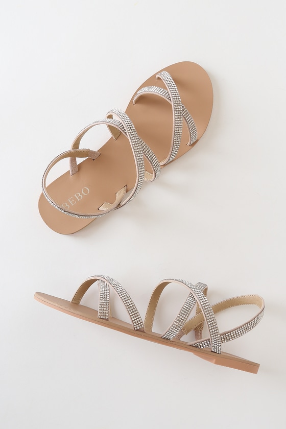 Bebo Spark - Rhinestone Strappy Sandals