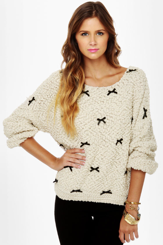 Be a Lamb Cream Sparkle Sweater at Lulus.com!