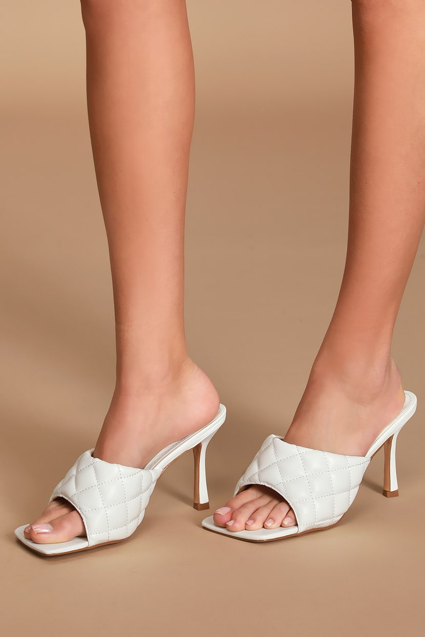 All White Heels