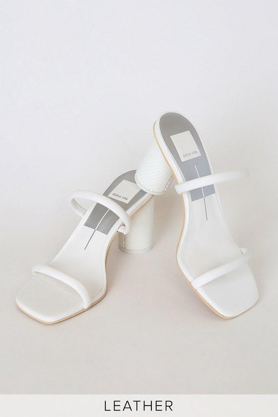 Dolce Vita Noles - White Leather Heels