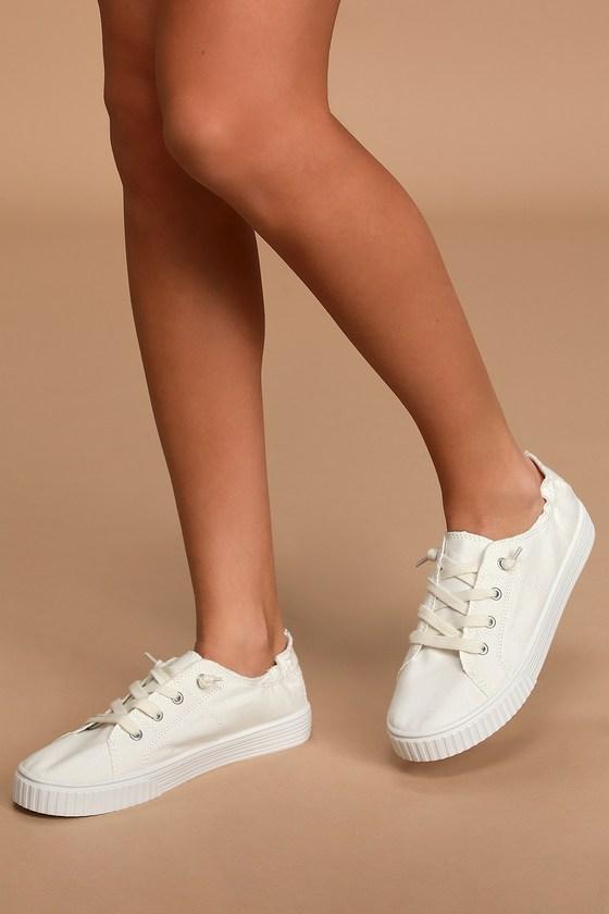 Sneakers - Canvas Sneakers - Lulus