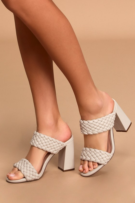steve madden white block heels