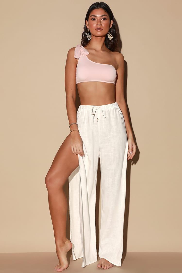 Seaside Sweetie White Swim Cover-Up Pants