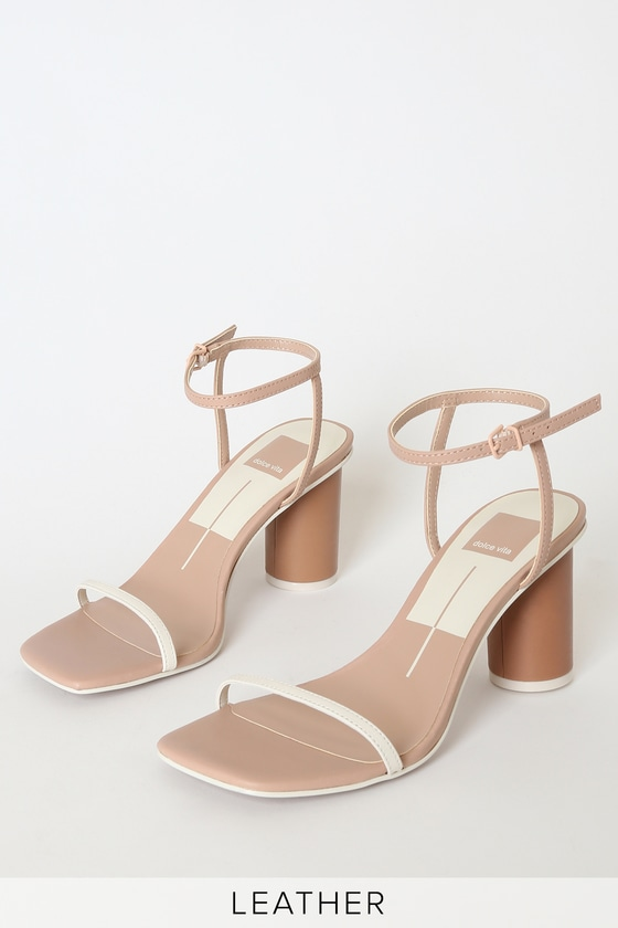 Dolce Vita Naomey Heels - Nude Multi Leather Sandals
