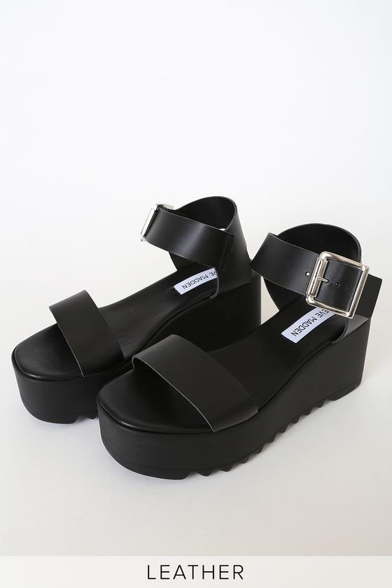 sandals platform black