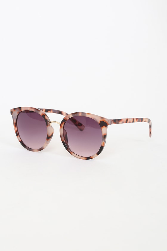 Selective Perception Pink Tortoise Sunglasses