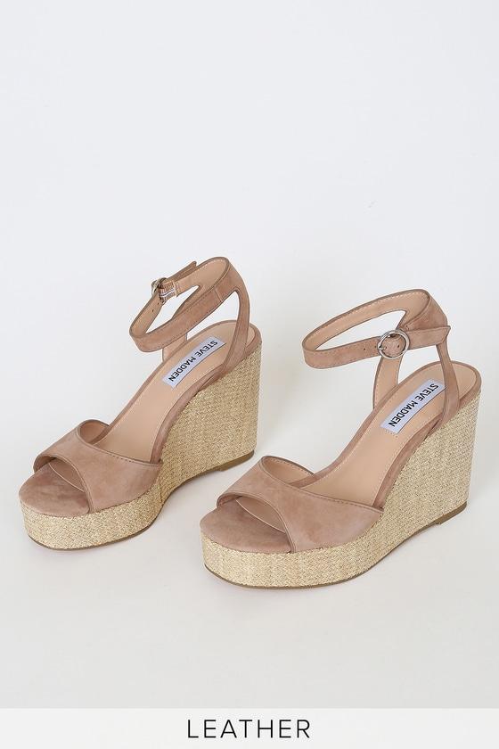 Steve Madden Binx - Camel Wedge Sandals