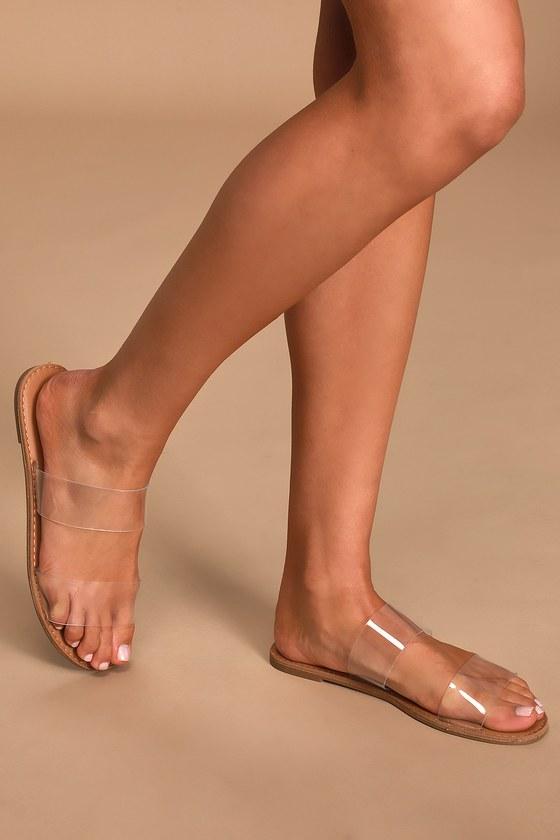 Cute Clear Sandals - Slide Sandals