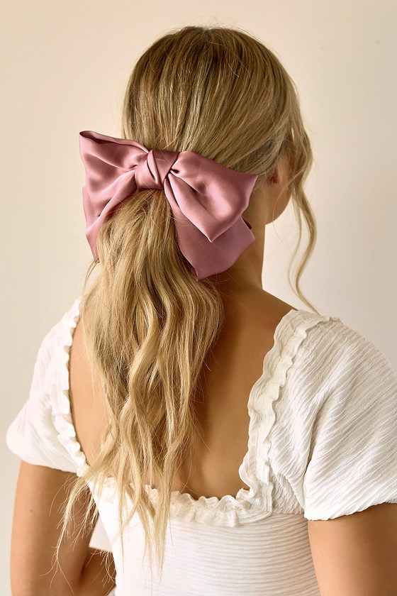 Pastel Satin Bows Spring Pastel Hair Accessory Oversized Bow- In 7 Colours Satin Hair Bow Satin Hair Clip