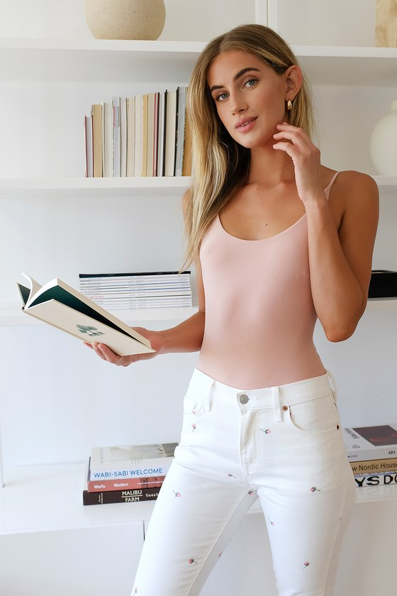 Daze Denim Moneymaker White Floral Embroidered High Rise Skinny Jeans