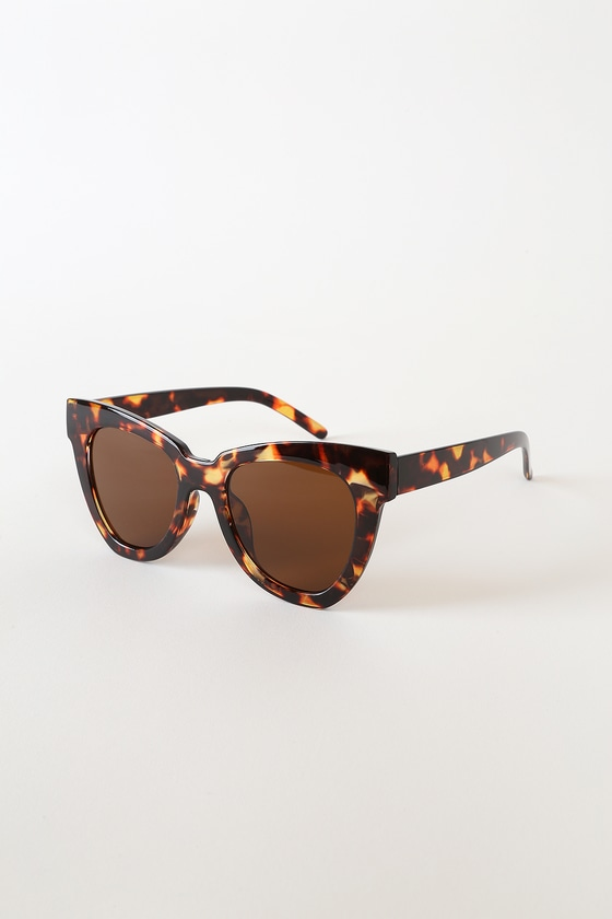 Sunny Satisfaction Brown Tortoise Oversized Sunglasses