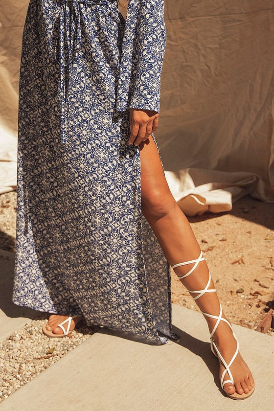 Chic White Sandals - Flat Sandals