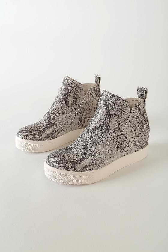 Dolce Vita Walker Stone Snake Print Stella High Top Wedge Sneakers