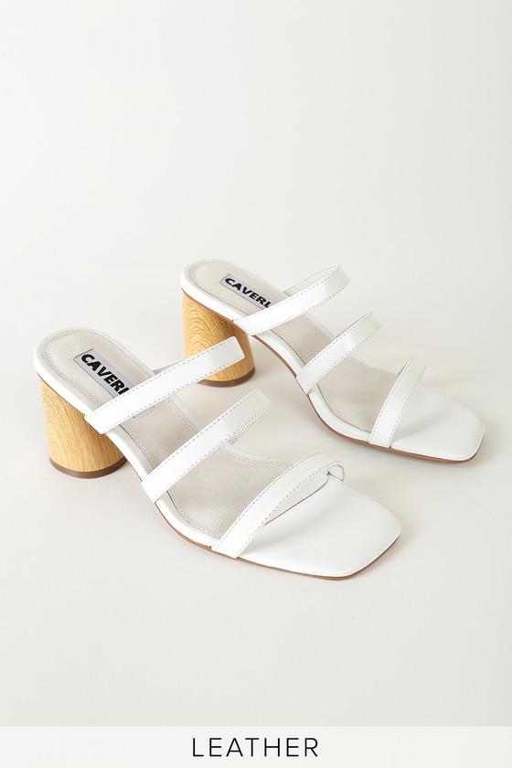 Caverley Lyndal White Leather High Heel Sandals