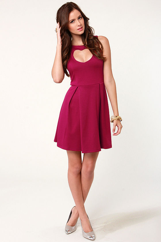 Lovestruck Cutout Magenta Dress at Lulus.com!