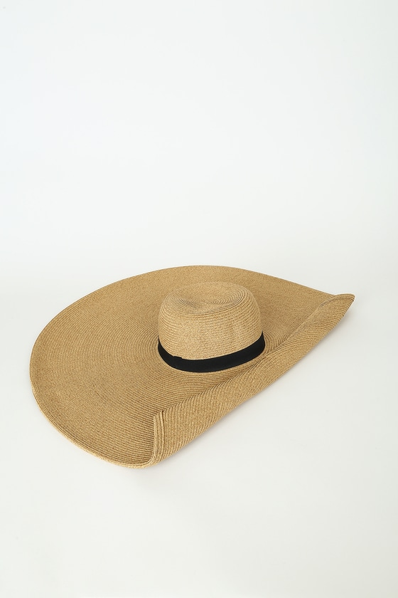 San Diego Hat Co Roll Call Tan Rolled Brim Oversized Sunhat