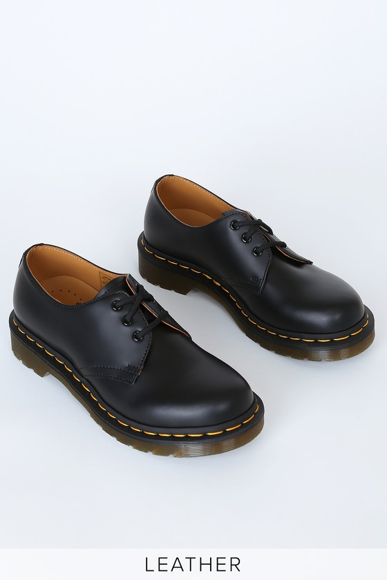Dr Martens 1461 W Black Smooth Leather Oxfords