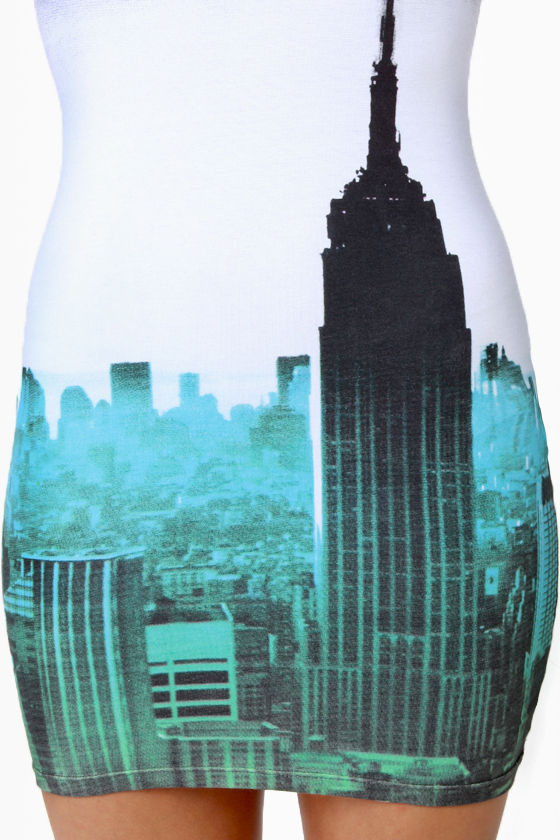 Motel Zena City Scene Print Dress at Lulus.com!