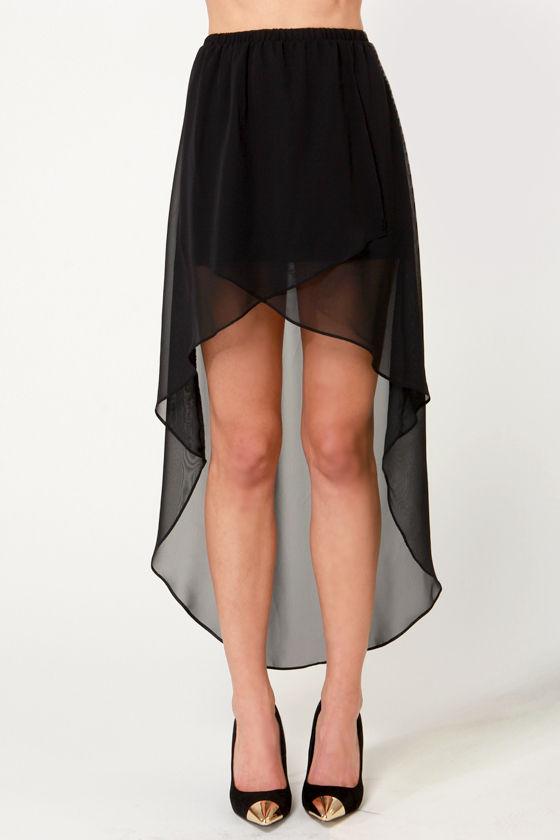 high low skirt black skirt tulip skirt 35 00