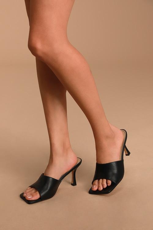 Maybelle Black High Heel Sandals