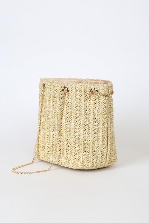 Miles to Go Beige Straw Mini Bag