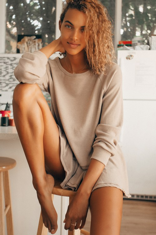 Expert Chiller Taupe Waffle Knit Shorts