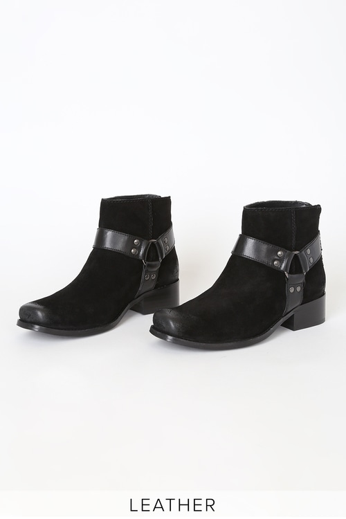 Seychelles Charming Black Suede Ankle Boots