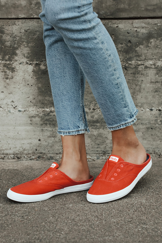 red sneakers style