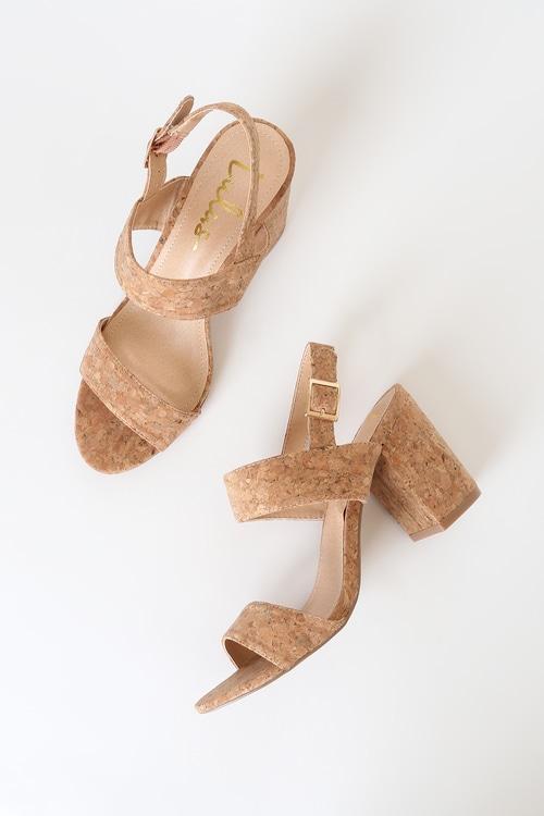 Rowan Cork High Heel Sandals