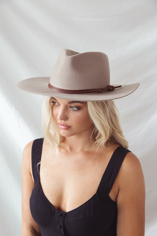 Wyeth Logan Tan Wool Rancher Hat