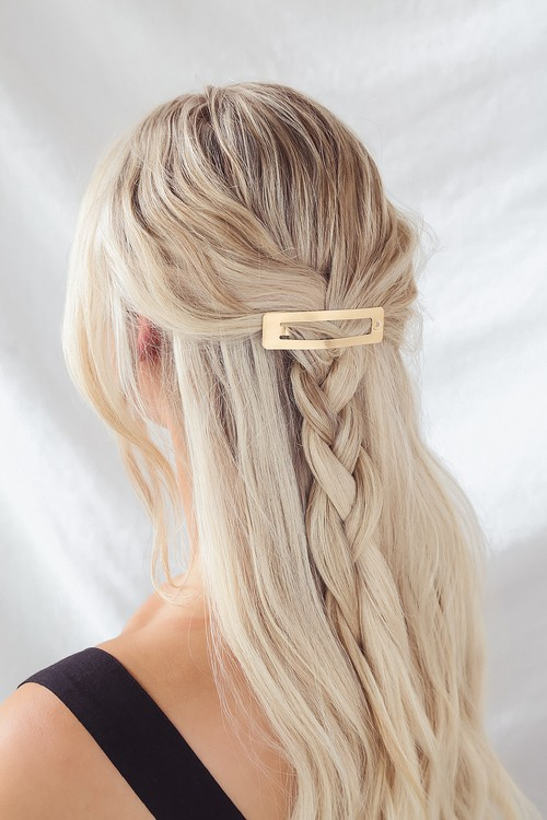 Petit Moments Slick Brushed Gold Hair Clip