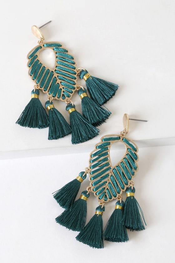 Rose Gold and Green Leaf Leather Earrings Boho Bohemian Green and Rose Gold Earrings Leaf Earrings Popular Earrings Bar Earrings