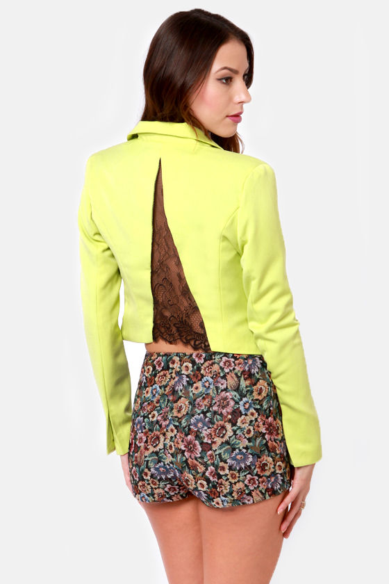 Notchy or Nice Chartreuse Blazer at Lulus.com!