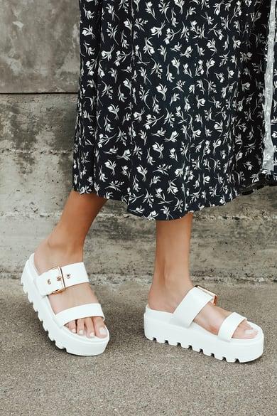 Flat Sandals for Women   Dressy Flats, Thongs, and Stylish Slides - Lulus