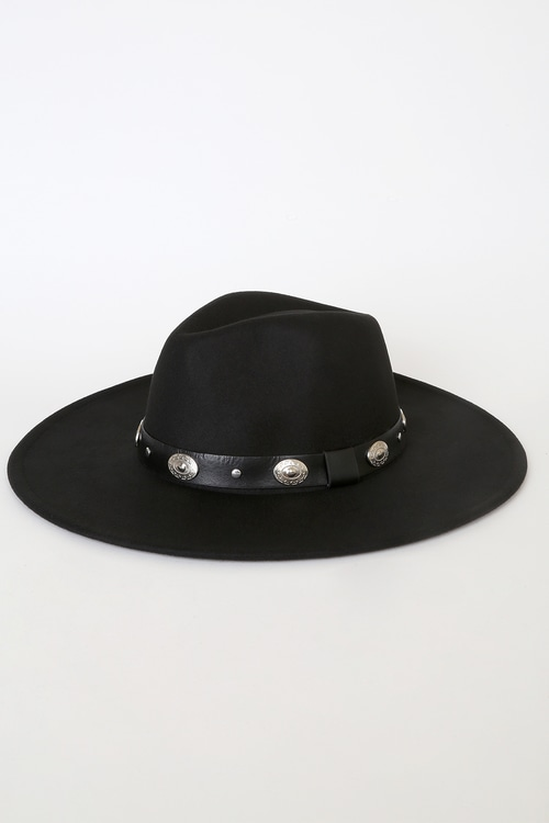 Howdy There Black Concho Felt Hat