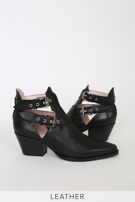 Sol Sana Brenda - Black Leather Ankle