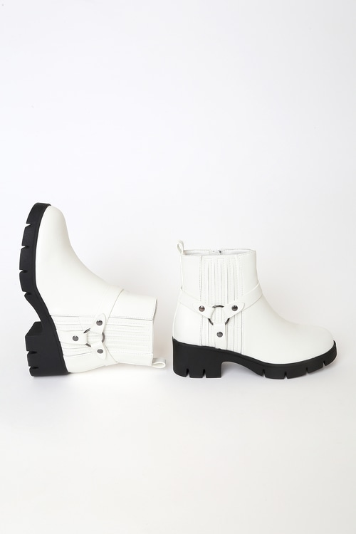 Rachael White Ankle Boots