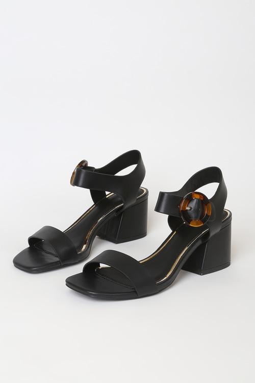 Katelynn Black High Heel Sandals