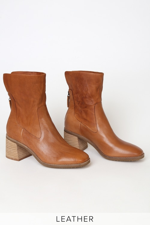 Kelsi Dagger Island Fox Leather Mid-Calf Boots
