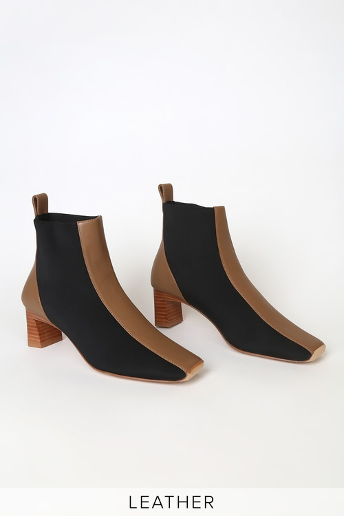 Senso Gwennie Fudge Brown Leather Ankle Booties