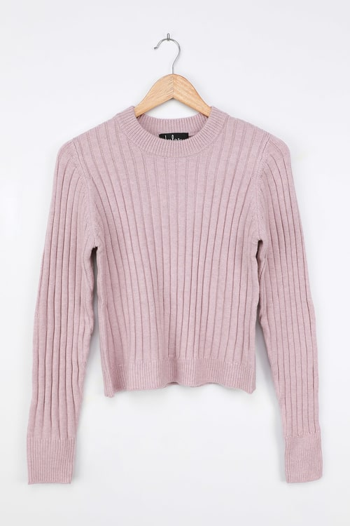 Forever Friend Blush Pink Ribbed Sweater