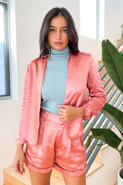Act Professional Rusty Rose Satin Blazer