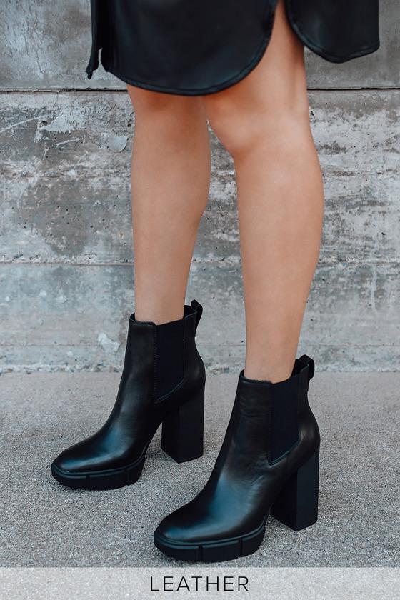Steve Madden Revised - Black Leather