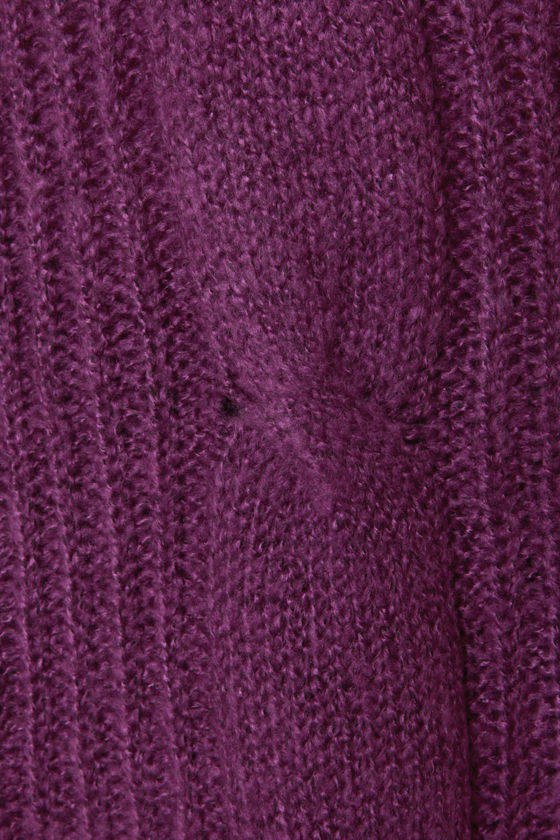 Premium Cable Oversized Purple Sweater at Lulus.com!