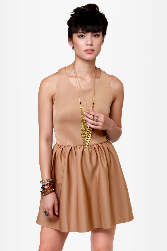 Skaters Gon' Skate Beige Dress at Lulus.com!