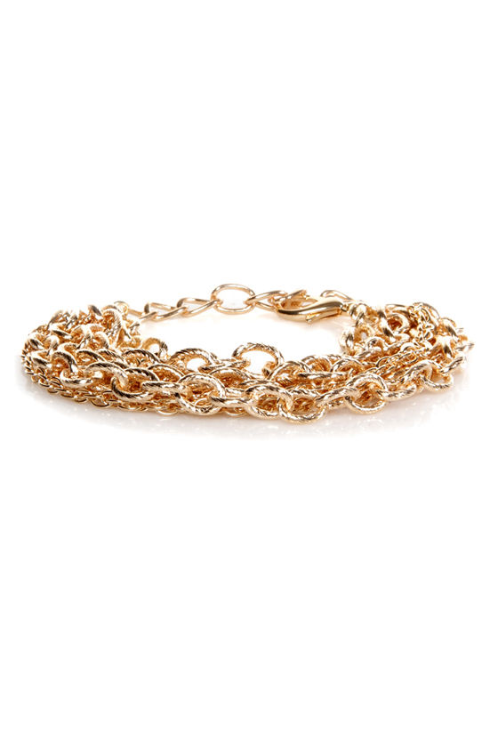 The More the Merrier Gold Chain Bracelet at Lulus.com!