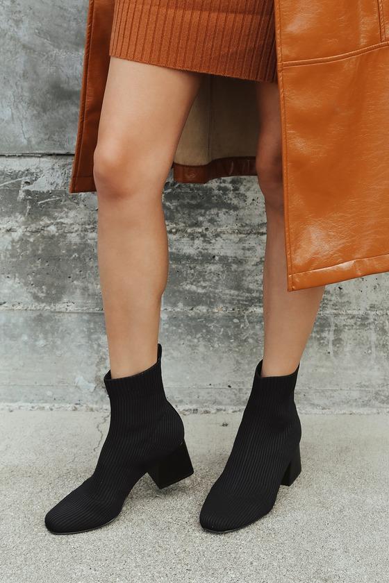 Steve Madden Darma-K - Black Knit Boots
