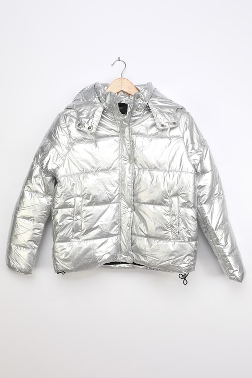 Deluc Stardust Silver Quilted Puffer Jacket