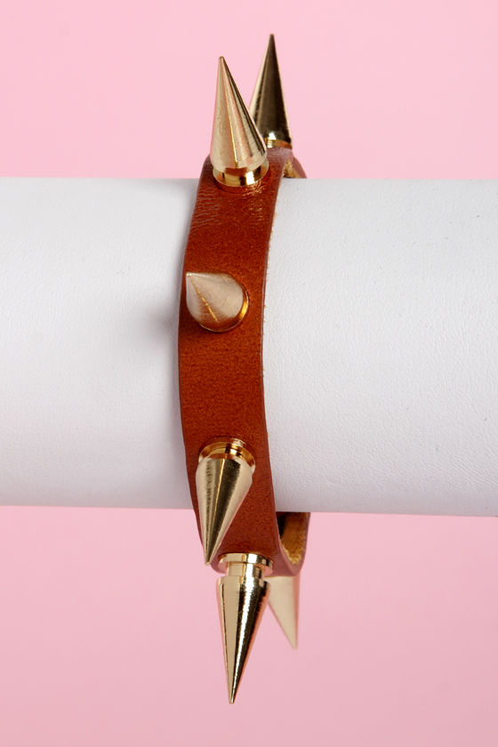 Be Like Spike Tan Bracelet at Lulus.com!