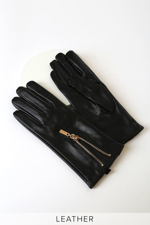 Vero Moda Kassandra Black Leather Gloves